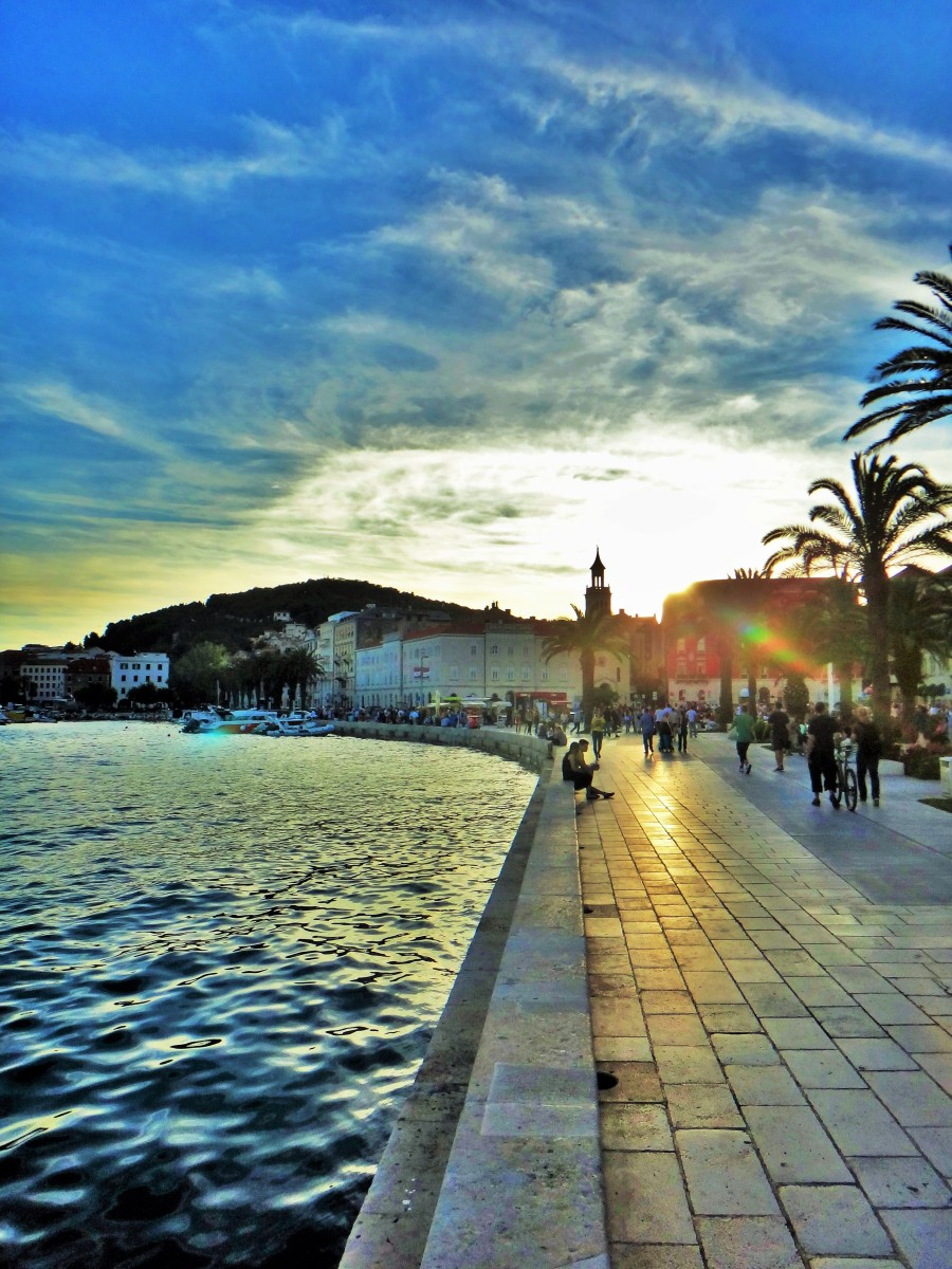 Going from Zadar to Split passing by Primosten